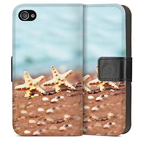 Apple iPhone 6 Housse Étui Silicone Coque Protection Étoile de mer Plage Sable Sideflip Sac