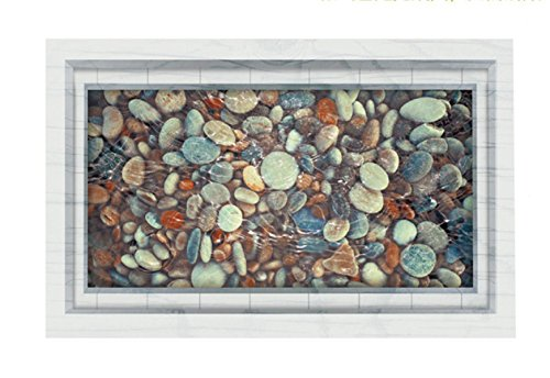 PVC 3D Kieselsteine Teich Boden Aufkleber Bad Wohnzimmer Dekoration Wandaufkleber