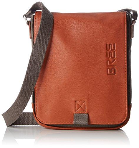 BREE Collection Unisex-Erwachsene Punch Casual 52, Cognac, Shoul. Bag Schultertasche, Grau (Grey), 6.5x26x21 cm