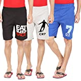 #4: Hotfits combo graphic cotton shorts pack of 3 (bkrace-grcr7-rb7)