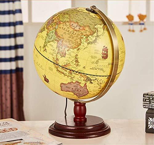YLL-N Vintage Weltkugel Antike Dekorative Desktop Globus Rotierende Erde Geographie Globus Holzsockel Pädagogische Globus Hochzeit Geschenk