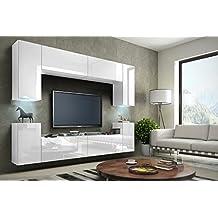 Wohnwand modern schwarz matt  Suchergebnis auf Amazon.de für: Wohnwand modern Hochglanz