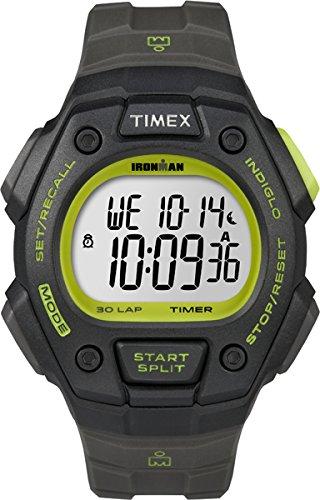 Timex Ironman Classic - T5K824 - Montre Homme - Quartz - Digital - Lumière/Alarme - Bracelet Résine Noir