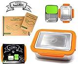 ECOtanka 2,0l Lunchbox 1x pocketBOX, Brotdose, Bento-Box, rostfrei, ökologisch, nachhaltig - BPA frei – robust und langlebig – Edelstahl-Dose