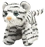 Wild Republic Hug'ems Plüschtier, Kuscheltier, Weißer Tiger 18cm