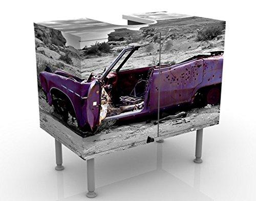 Mobile per lavabo design Pink Cadillac 60x55x35cm, basso, Larghezza: 60cm, regolabile, mobiletto da lavandino, lavandino, mobiletto da lavabo, lavabo, mobiletto, bagno, bagnetto, mobile da bagno