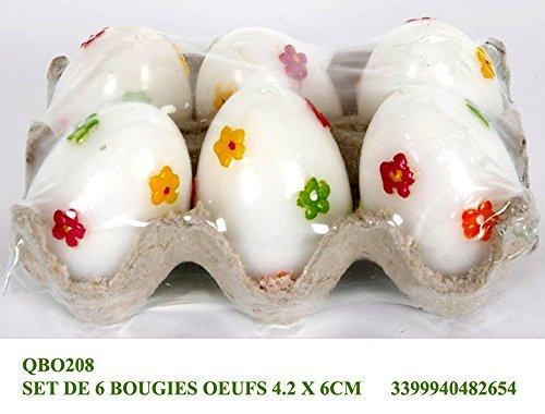 Idea Pasqua: confezione 6 uova pasquali decorate