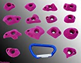 Technics Klettergriffe XS von Move-it-Climbingholds, Farbe:gelb