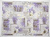 pezzoli Teilenschnitt Stoff 280 x 290 Fantasie Lavendel und