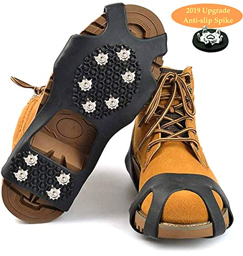HONYAO Crampones Cubierta Antideslizante de Zapatos, Suelas Antideslizantes para Hombres y Mujeres Zapatos...
