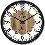 Amazon Brand - Solimo 12-inch Wall Clock - Clique Clock (Silent Movement)