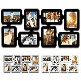 EUGAD 8 Fotos Collage Bilderrahmen #6, Holz Rahmen, zum Hängen im Querformat und Hochformat, für Bilder 10x15 cm, 3 Farben (9312 Schwarz)