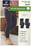 TCM Tchibo 2 Kinder Thermo Leggings Frottier Innenseite Blau 86/92
