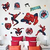 JUNMAONO Spider Man Wandaufkleber/Wandbilder/abnehmbare Wandbild Aufkleber/Wandgemälde/Wand Poster/Wandbilder/Wandtattoo
