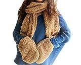 Brown Women's Scarf, Hat & Glove Sets