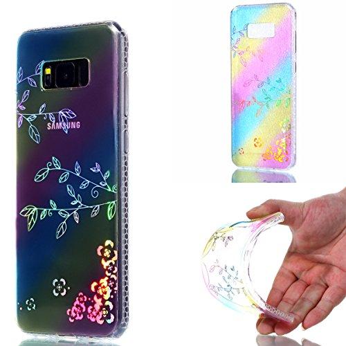 iPhone 7 Plus Cover, iPhone 8 Plus Cover, WindTeco Divertente Motivo Design Colorato Cristallo Trasparente Ultra Sottile Morbido TPU Gel Case Cover per Apple iPhone 7 Plus / iPhone 8 Plus Ramo