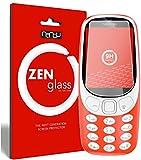 nandu I ZenGlass Flexible Glas-Folie für Nokia 3310 Panzerfolie I Bildschirm-Schutzfolie 9H I (Kleiner Als Das Gewölbte Bildschirm)