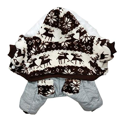 Feidaeu Winter Hundebekleidung Verdickung Cord Warme Nette Haustier Kostüm Chihuahua Kleine Hundemantel ()
