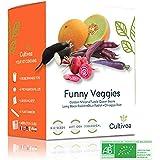 Cultivea – Mini Kit Huerto de Verduras Insólitas – 100% Semillas Bio - Idea de Regalo (Melón Dorado, Frijoles Reina Púrpura,