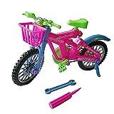 1 STÜCKE Kunststoff Simulation Mini Abnehmbare Fahrrad Spielzeug mit Korb Für Barbie Puppe Haus Zubehör Kind Geburtstag Weihnachten Neujahr Geschenk (zufällige Farbe)