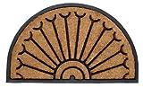 William Armes 2484812 - Felpudo de fibra de coco natural y goma con forma de media luna, 75 x 45 cm