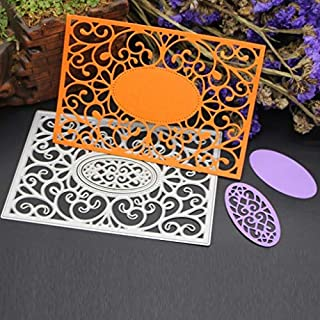 Amlaiworld Flower Heart Metal Cutting Dies Stencils DIY Scrapbooking Album Paper Card Craft (C)