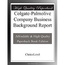 Colgate-Palmolive Company Business Background Report
