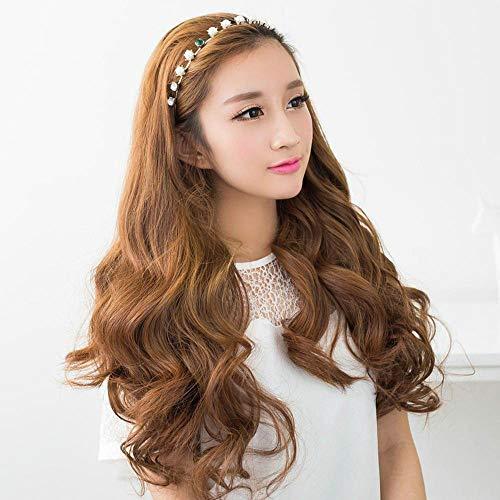 Luziang perücken Damen,Perücken, Damen, lockiges Haar, große wellige Locken. - Wellige Locken-perücke