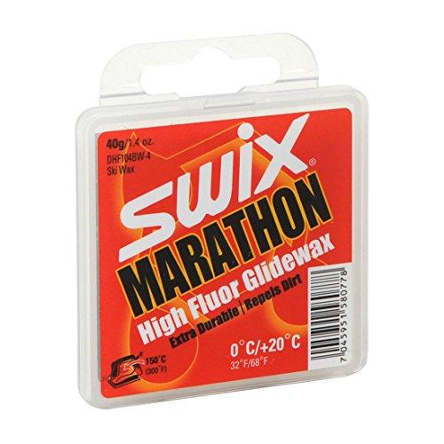Swix DHF 104bw-4Cera F Marathon 'Dirty Harry' High Performance Erste Schicht Wachs, grau, 40GM (Ski Wachs Fluoro)