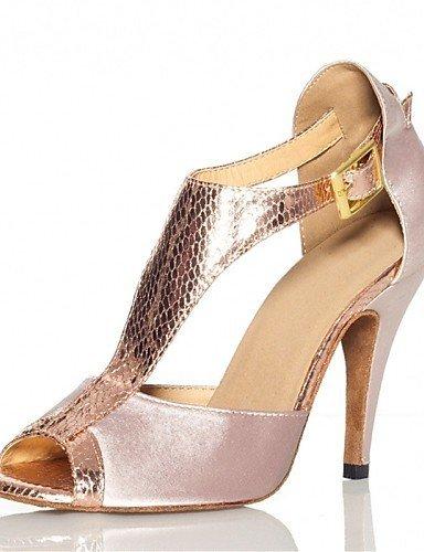 ShangYi Chaussures de danse(Violet / Gris / Autre) -Personnalisables-Talon Personnalisé-Satin / Similicuir-Latine / Jazz / Salsa / Samba / nude