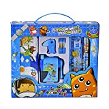 Kid's Learning Stationery 12 Pieces Pencil Case Pencil Rubber Ruler Sharpener Set Primary School Holiday Anniversary Celebration Awards Commemorative Gifts