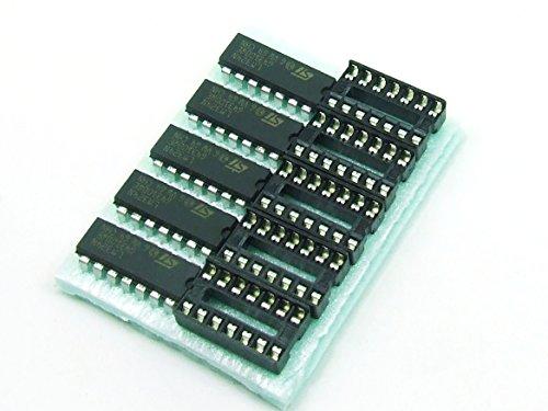 Stk. 5 x LM 324 N mit/with DIP14 Sockel/Socket Operationsverstärker Op Amp von Just-Honest #A488