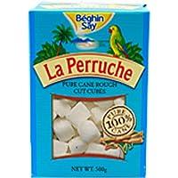 Un 500g La Perruche áspero blanco cortado cubos de azúcar