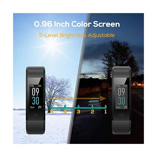 CHEREEKI Pulsera Actividad, Fitness Tracker IP68 Impermeable 14 Modos de Ejercicio 6