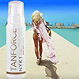 *NEW* NYK1 TANFORCE Invisible, Low Odour Self-Tanning DEEP TAN Force Fake Developing Skinny Look Tan White Tanning Mousse. Golden Skin Bronzer gold bake Australian look. Bronzing Self-tan Develops in hours. The 1st BOYFRIEND Friendly Tan!