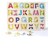 #9: Toyshine Wooden English Capital Letters Puzzle Toy, Educational and Learning Toy - ABC