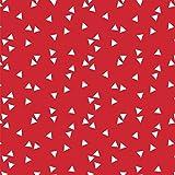 Baumwollstoff Dreiecke Rot Webware Meterware Popeline