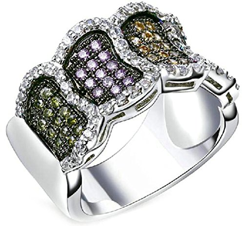 (Custom Ringe)Adisaer Vergoldet Damen Ringe in Gold Eheringe mit Gravur Zirkonia Verlobungsring Diamant Größe 52 (16.6) Weißgold