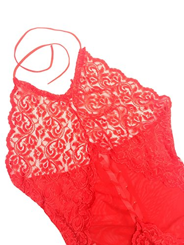 Shangrui Frauen der Uniform Serie Lacy Siamese-Stil Unterwäsche Rot4021