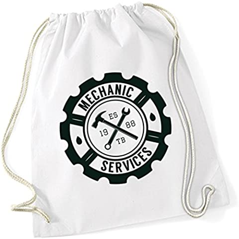Mechanic Service Borsa De Gym Bianco Certified Freak