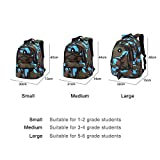 Enlarge toy image: Comfysail Camouflage Printed Primary School Nylon Backpack - Ideal for 1-6 Grade School Students Boys Girls Daily Use and Outdoor Activities (Small, Blue)