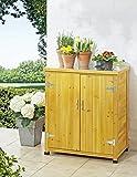 kleiner Garten und Geräteschrank