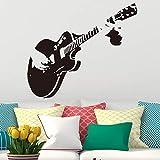 zqyjhkou Kreative Kunst Gitarre wandaufkleber wohnkultur DIY Musikinstrument Vinyl wandaufkleber wohnkultur Wohnzimmer Schlafzimmer m 30 cm x 34 cm