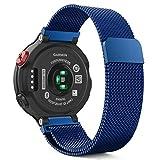 MoKo Armband für Garmin Forerunner 220/230/235/620/630/735 - Milanaise Wrist Band Strap Watchband Uhrband Uhrenarmband Erstatzband mit Magnet-Verschluss für Garmin Forerunner 235 WHR Laufuhr, Blau