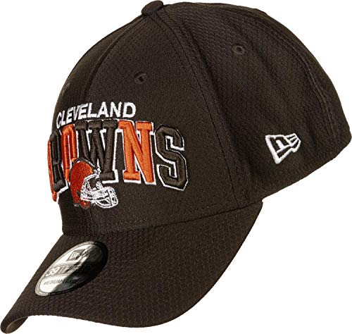 New Era NFL Cleveland Browns Authentic 2019 Sideline 39THIRTY Stretch Fit Home Cap, Größe :S/M (Browns Cleveland Baseball-cap)