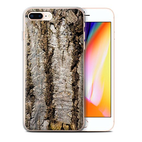 Stuff4 Gel TPU Hülle / Case für Apple iPhone X/10 / Algen/Grün Muster / Baumrinde Kollektion Alt
