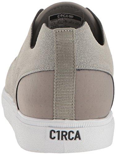 C1RCA Mens Morrow Low Profile Durable Lightweight Skate Skateboarding-Shoes Ash/White