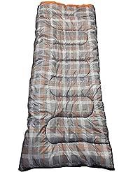OL:Pro Olpro–Hush Saco de Dormir Unisex, Color Gris/Naranja, 190x 75cm