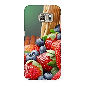 Enticing Delicious Straberry Multicolor Back Case Cover for Samsung Galaxy S6 Edge Plus