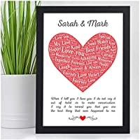 Personalised When I Tell You That I Love You Gifts for Couples, Her, Him, Husband, Wife, Girlfriend, Boyfriend - Birthday, Valentines Day, Christmas Gifts - Black or White Framed A5, A4 Prints